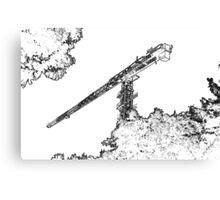 Crane Outline Canvas Print