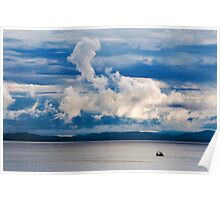 Blue Dawn over the Highland Coast Poster