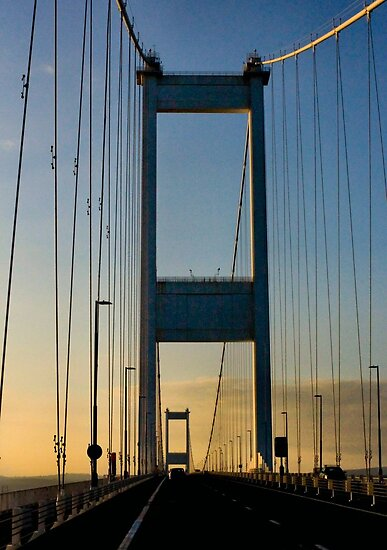 The old Severn Bridge by missmoneypenny