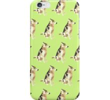 Light Yellow-Green Puppy Pattern iPhone Case/Skin