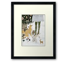 Christmas tree decorating Framed Print