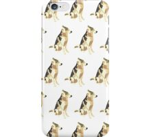 Light Yellow-Green Puppy White Pattern iPhone Case/Skin
