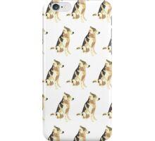 Light Yellow-Green Puppy White Pattern iPhone Case/Skin