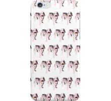 Yellow Puppy White Pattern iPhone Case/Skin