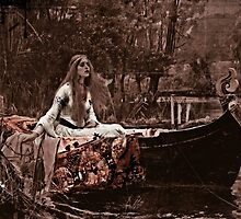 Lady of Shalott on the River by dianegaddis