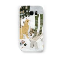 Christmas tree decorating Samsung Galaxy Case/Skin