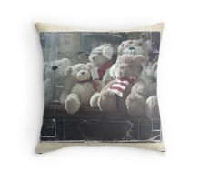Teddy Bear Christmas in colour Throw Pillow