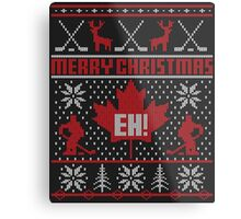 Canadian Christmas Ugly Sweater Metal Print
