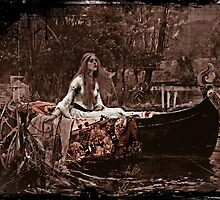 Lady of Shalott Adrift by diane  addis