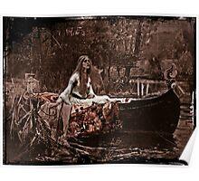 Lady of Shalott Adrift Poster