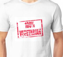 100% vegetarian Unisex T-Shirt