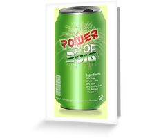 Power Of 2016 Green Drink Greeting Card