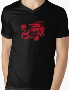 The Lurking Fear: Terror in Red Mens V-Neck T-Shirt