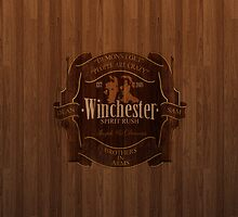 Winchester Supernatural wood iphone by viperbarratt