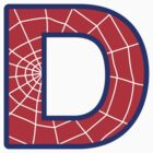 D letter in Spider-Man style by florintenica