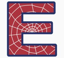 E letter in Spider-Man style by Stock Image Folio