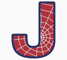 J letter in Spider-Man style by florintenica