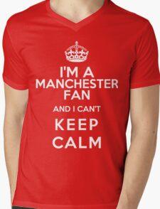 Keep Calm I Support Manchester United Mens V-Neck T-Shirt