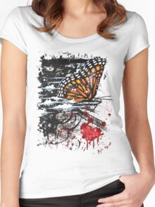 Bullet with Butterfly Wings Women's Fitted Scoop T-Shirt
