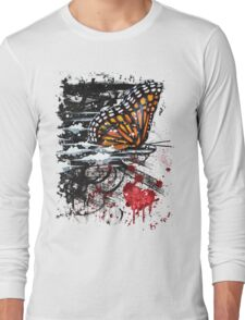 Bullet with Butterfly Wings Long Sleeve T-Shirt