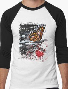 Bullet with Butterfly Wings Men's Baseball ¾ T-Shirt