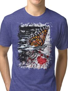 Bullet with Butterfly Wings Tri-blend T-Shirt