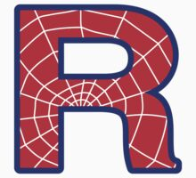 R letter in Spider-Man style by florintenica