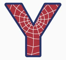 Y letter in Spider-Man style by florintenica