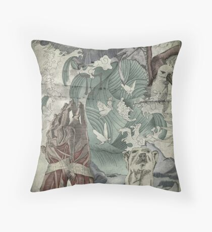Flay The Hands That Prey. Throw Pillow
