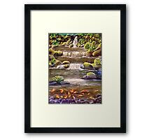 Breakfast With The Koi.......... Framed Print
