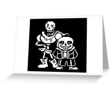 Sans and Papyrus Greeting Card