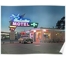 Historic Rt. 66 Blue Swallow Motel Poster