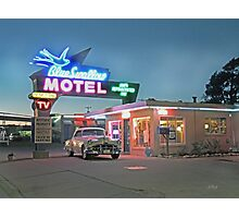 Historic Rt. 66 Blue Swallow Motel Photographic Print
