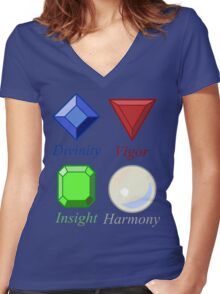 More Than Just Precious Stones Women's Fitted V-Neck T-Shirt