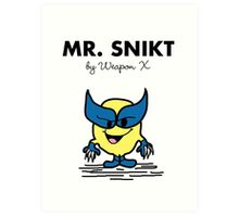 Mr Snikt Art Print