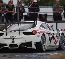 British GT 2013 Donington - #61 Paul Bailey / Andy Schultz - White Ferrari 458 Italia GT3 by motapics