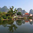 Little Town Of Yangshuo, China. by Ralph de Zilva