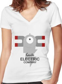 Kanto Electric Company Women's Fitted V-Neck T-Shirt