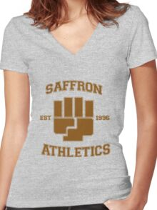 Saffron Athletics Women's Fitted V-Neck T-Shirt