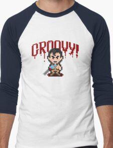 Evil Dead Pixels Men's Baseball ¾ T-Shirt