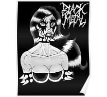 Sexy Black Metal Chick Poster