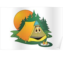 Cartoon Camping Tent Poster