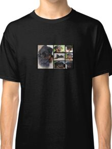 Collage Of Cute Female Rottweiler Puppy Classic T-Shirt
