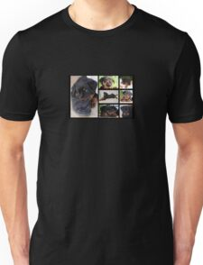Collage Of Cute Female Rottweiler Puppy Unisex T-Shirt