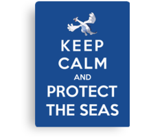 Keep Calm And Protect The Seas Canvas Print