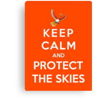 Keep Calm And Protect The Skies Canvas Print