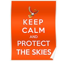 Keep Calm And Protect The Skies Poster