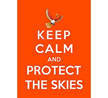 Keep Calm And Protect The Skies Photographic Print