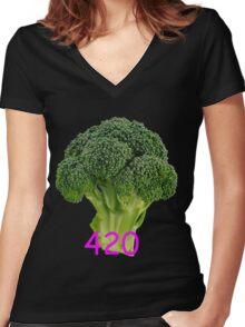 420 Blaze It Women's Fitted V-Neck T-Shirt