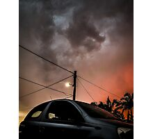 Hatchback vs the Apocalypse  Photographic Print